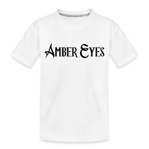 AMBER EYES LOGO IN BLACK - Toddler Premium Organic T-Shirt