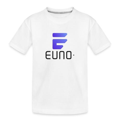 EUNO LOGO POTRAIT BLACK FONT - Toddler Premium Organic T-Shirt