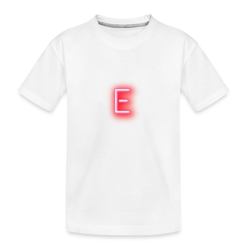 Neon E - Toddler Premium Organic T-Shirt