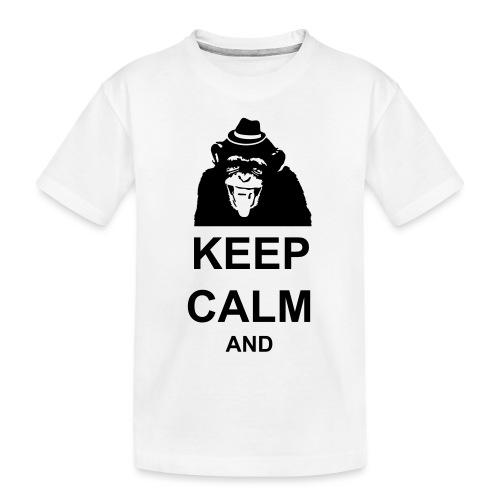 KEEP CALM MONKEY CUSTOM TEXT - Toddler Premium Organic T-Shirt