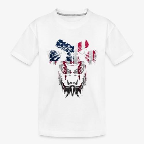 American Flag Lion Shirt - Toddler Premium Organic T-Shirt