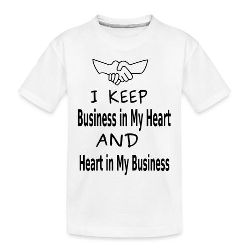 Business Heart - Toddler Premium Organic T-Shirt