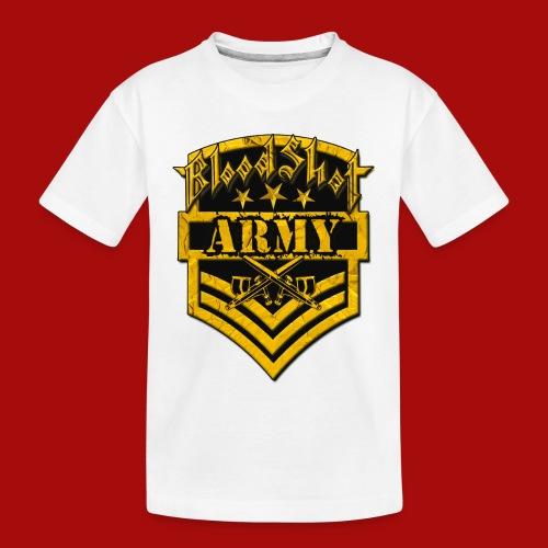 BloodShot ARMYLogo Gold /Black - Toddler Premium Organic T-Shirt