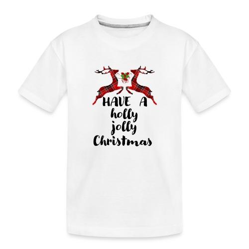 Holly Jolly Christmas - Toddler Premium Organic T-Shirt