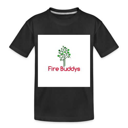 Fire Buddys Website Logo White Tee-shirt eco - Toddler Premium Organic T-Shirt