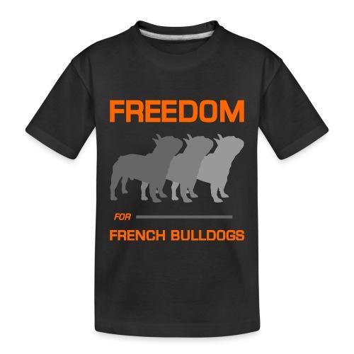 French Bulldogs - Toddler Premium Organic T-Shirt