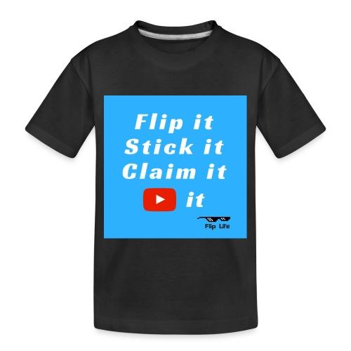 Flip It Blue Back Flip T-shirt - Toddler Premium Organic T-Shirt