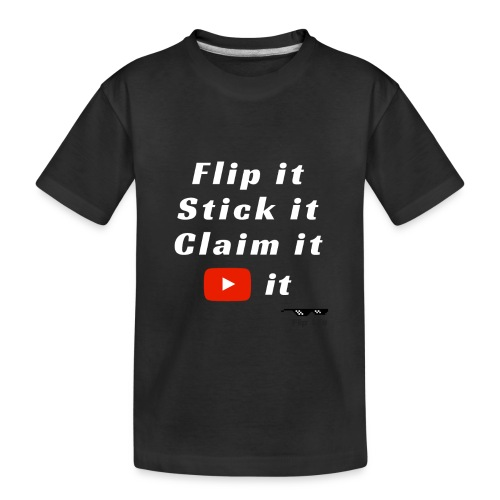 Flip It White Design T-Shirt - Back Flip Inverted - Toddler Premium Organic T-Shirt