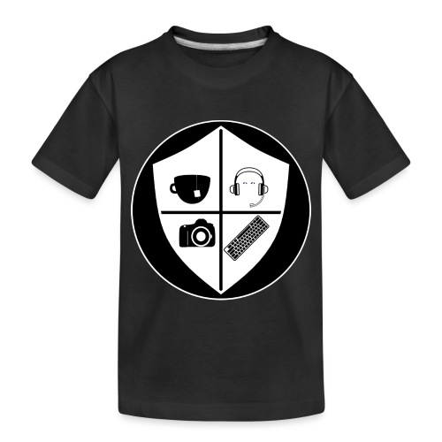 Punk Who Drinks Tea Crest (Inverted) - Toddler Premium Organic T-Shirt