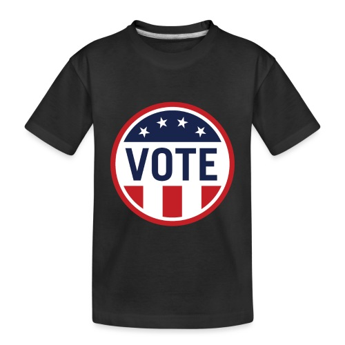 Vote Red White and Blue Stars and Stripes - Toddler Premium Organic T-Shirt