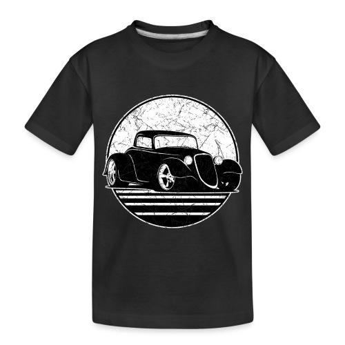 Retro Hot Rod Grungy Sunset Illustration - Toddler Premium Organic T-Shirt