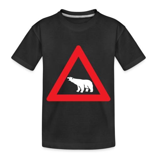 Polar Bear Road Sign - Toddler Premium Organic T-Shirt