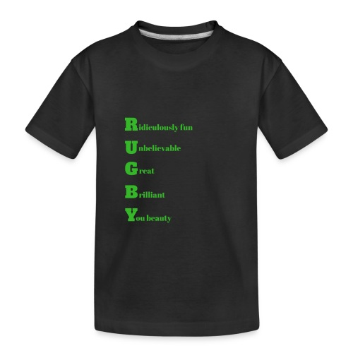 Rugby design for T-shirts and other merchandise - Toddler Premium Organic T-Shirt
