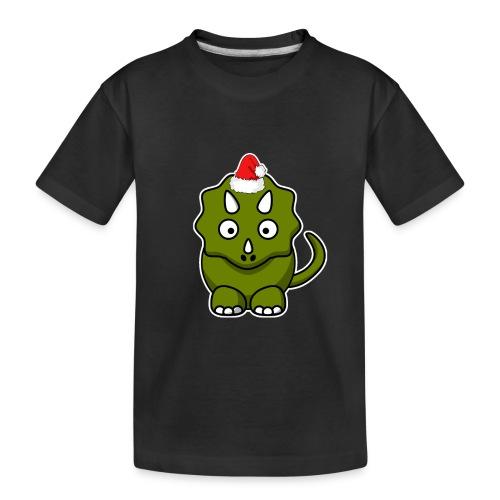 Happy Holidays Triceratops - Toddler Premium Organic T-Shirt