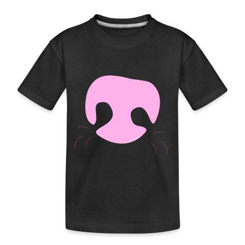 Pink Whimsical Dog Nose - Toddler Premium Organic T-Shirt