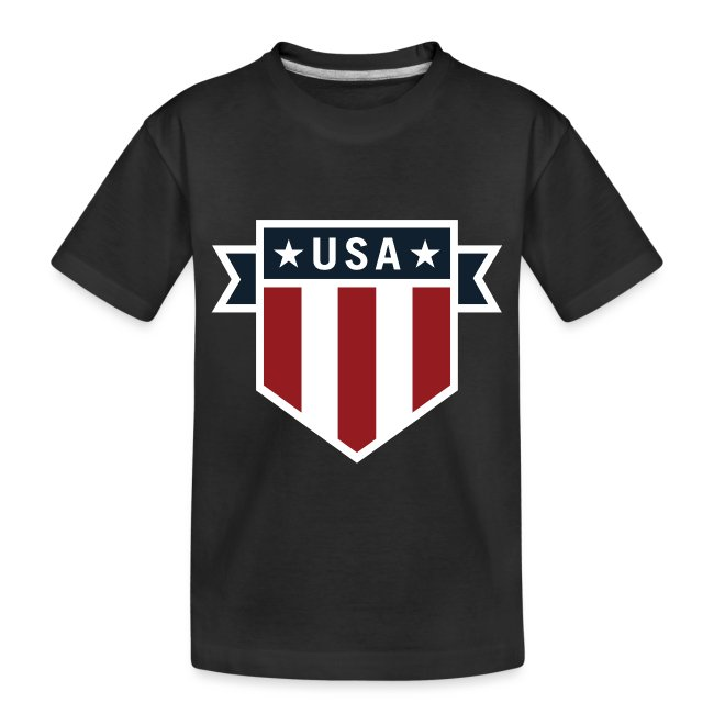 USA Pride Red White and Blue Patriotic Shield
