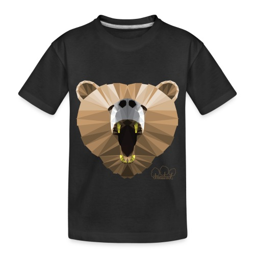 Hungry Bear Women's V-Neck T-Shirt - Toddler Premium Organic T-Shirt