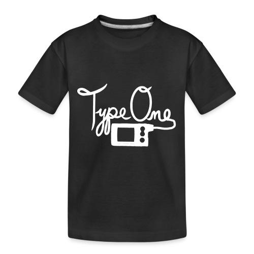 Type One - Insulin Pump 2- White - Toddler Premium Organic T-Shirt