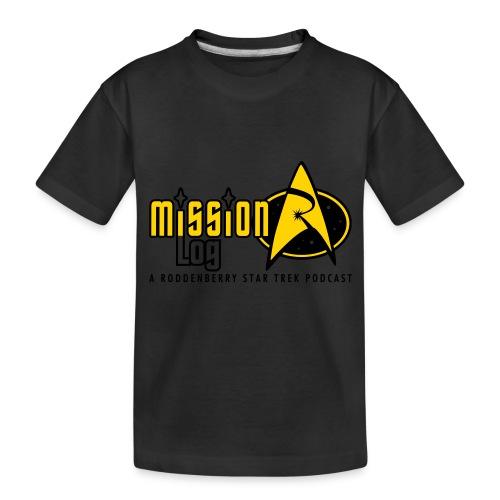 Logo Wide 2 Color Black Text - Toddler Premium Organic T-Shirt