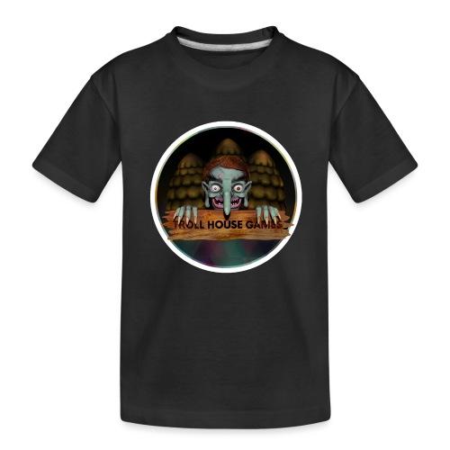 Troll House Games Logo - Toddler Premium Organic T-Shirt