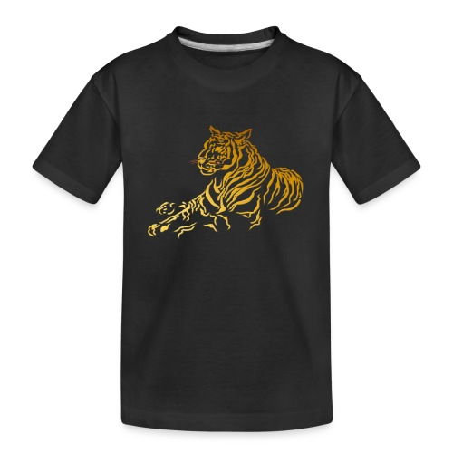 Gold Tiger - Toddler Premium Organic T-Shirt