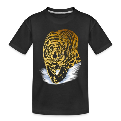 Golden Snow Tiger - Toddler Premium Organic T-Shirt