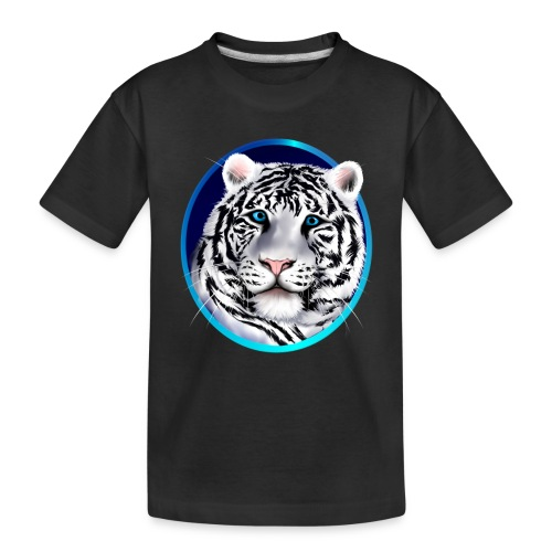 Framed White Tiger Face - Toddler Premium Organic T-Shirt