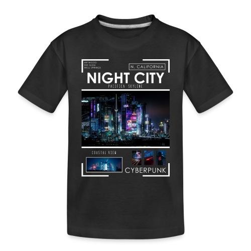Night City Pacifica Skyline - Toddler Premium Organic T-Shirt