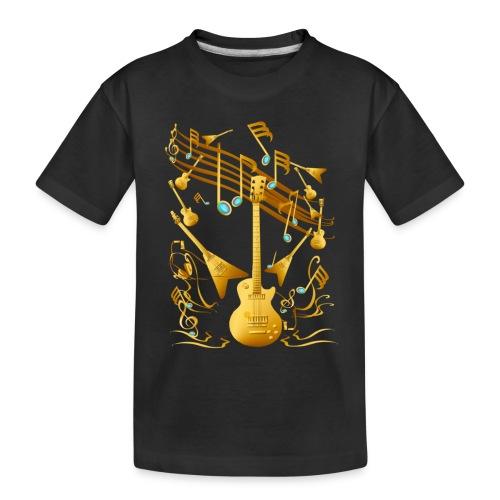 Gold Guitar Party - Toddler Premium Organic T-Shirt
