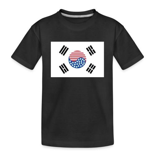 Korean American Flag - Toddler Premium Organic T-Shirt