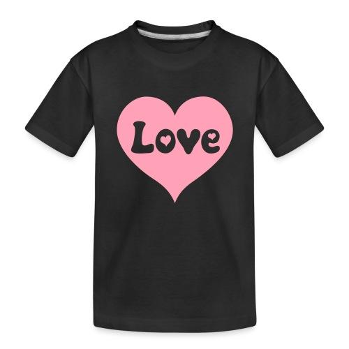 Love Heart - Toddler Premium Organic T-Shirt