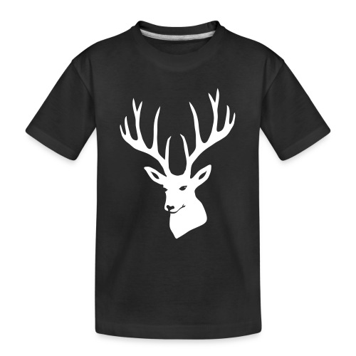stag night deer buck antler hart cervine elk - Toddler Premium Organic T-Shirt