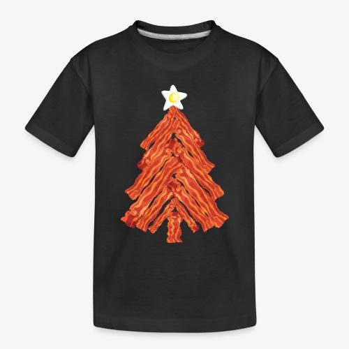 Funny Bacon and Egg Christmas Tree - Toddler Premium Organic T-Shirt