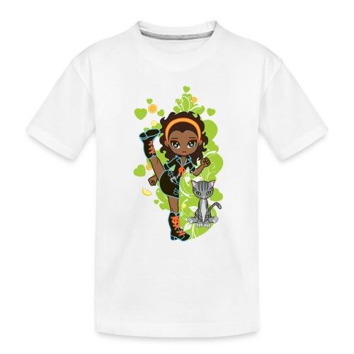Aisha the African American Chibi Girl - Toddler Premium Organic T-Shirt