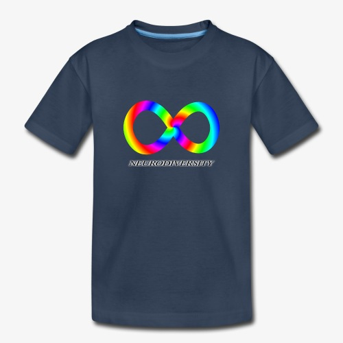 Neurodiversity with Rainbow swirl - Toddler Premium Organic T-Shirt