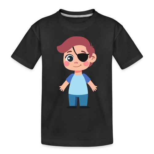Boy with eye patch - Toddler Premium Organic T-Shirt