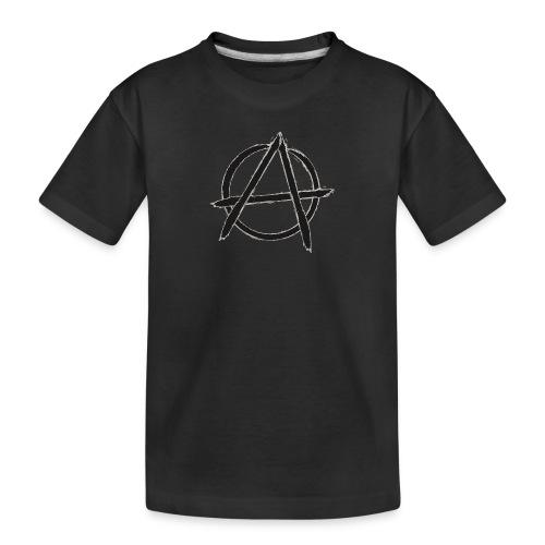 Anarchy in black silver - Toddler Premium Organic T-Shirt