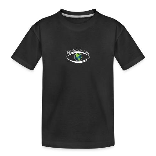 Self Sufficient Me Logo white small coy design - Toddler Premium Organic T-Shirt
