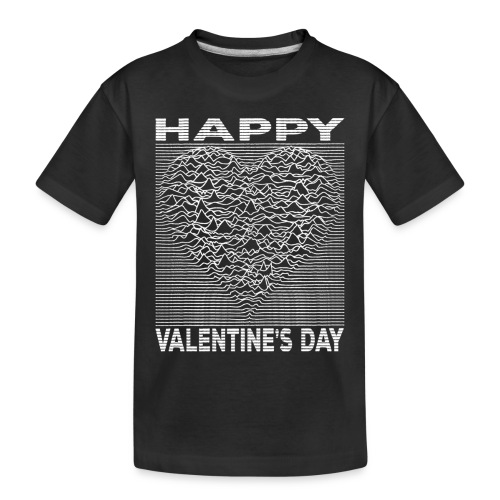Love Lines Happy Valentines Day Heart - Toddler Premium Organic T-Shirt