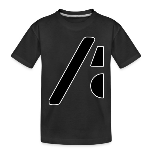 Half the logo, full on style - Toddler Premium Organic T-Shirt
