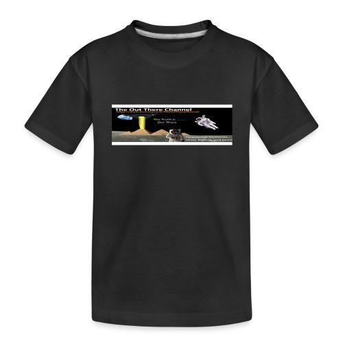 UFO Pyramids v2 with Crew Back Logo - Toddler Premium Organic T-Shirt