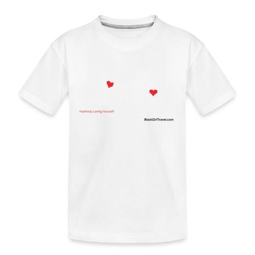 FlyGirlTextWhite W Black png - Toddler Premium Organic T-Shirt