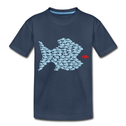 fish swarm comic hunt hunter ocean hunting fishes - Toddler Premium Organic T-Shirt