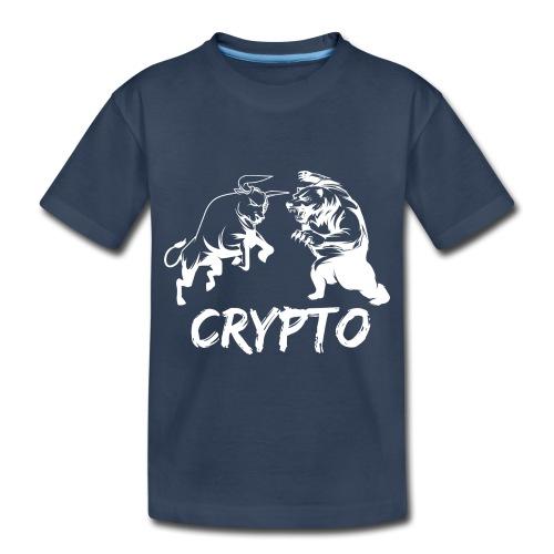 CryptoBattle White - Toddler Premium Organic T-Shirt