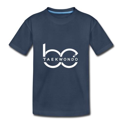 Logo emblem WHITE no bg - Toddler Premium Organic T-Shirt