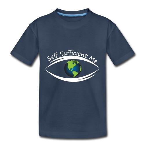 Self Sufficient Me Logo Large - Toddler Premium Organic T-Shirt