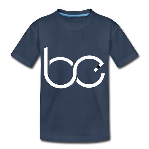 Logo 1 White - Toddler Premium Organic T-Shirt