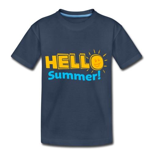 Kreative In Kinder Hello Summer! - Toddler Premium Organic T-Shirt