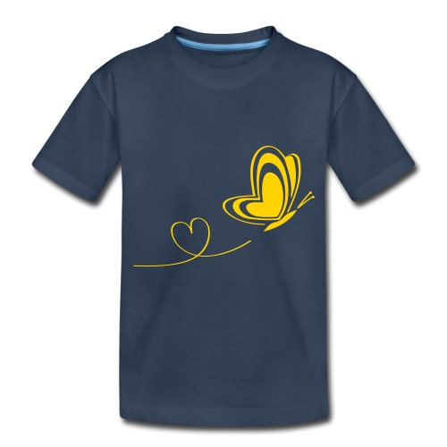 butterfly love heart wings insect - Toddler Premium Organic T-Shirt