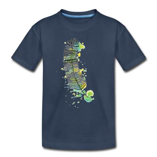 Geometric Feather - Toddler Premium Organic T-Shirt